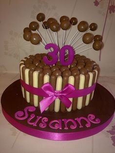 Pink Malteser Cake by Creations By Paula Jane, via Flickr