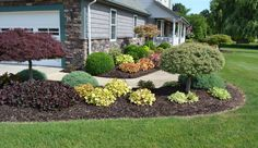 backyard landscaping ideas for midwest | colorful landscape design idea for a sidewalk planting.