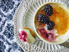 Blackberry  Breakfast Brulee gourmet breakfast  at 10 Fitch bed and breakfast www.10fitch.com  Download the recipe here - http://www.10fitch.com/Recipes/Blackberry_Breakfast_Brulee.pdf #10fitch #gourmetbreakfast #gourmet #breakfast #fingerlakes