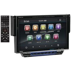 "BOSS AUDIO BV8974B 7"" Single-DIN In-Dash Drop-down DVD/MP3/CD & AM/FM Receiver with Bluetooth(R)"