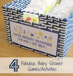 Driven By Décor: Four Fabulous Baby Shower Games & Activities: <3 the late night diapers!!! must do also good ideas for who's that baby game