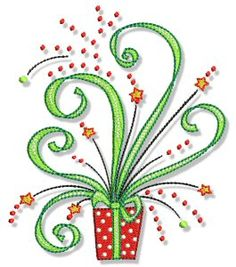 Embroidery | Free Machine Embroidery Designs | Bunnycup Embroidery | Christmas Doodads 5x7