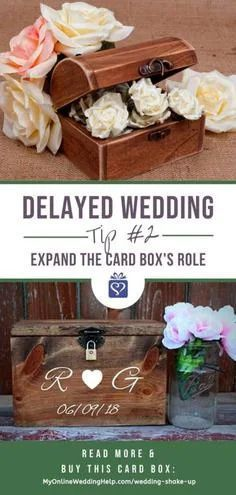 When unexpected complications happen, you may not be able to avoid putting off your wedding reception or other events indefinitely, but you don't have to forego Unusual Wedding Gifts, Special Wedding Gifts, Wedding Gifts For Bride And Groom, Wedding Gifts For Couples, Personalized Wedding Gifts, Gifts For Wedding Party, Wedding Anniversary Gifts, Groomsmen Proposal, Bridesmaids And Groomsmen
