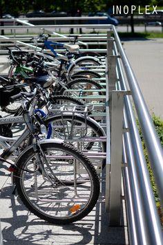 The ST.12.12 bicycle rack is a wall mount model. The stand was made entirely of damage-resistant stainless steel. / Stojak rowerowy ST.12.12 to model przeznaczony do montażu na ścianie. Stojak został wykonany w całości z odpornej na uszkodzenia wywołane eksploatacją stali nierdzewnej. Bicycle, Model, Bike, Bicycle Kick, Trial Bike, Models, Template, Bicycles