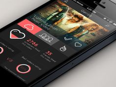 Screen - Concept App #design for a fake tv show/video social #app. Flat #UI - Marcel Henkhaus