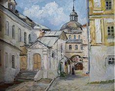 Картины :: В Троице-Сергиевой Лавре | Купить картину у художника | Городской пейзаж
