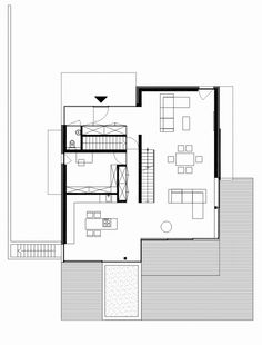 House THE / n-lab architects _ first floor plan