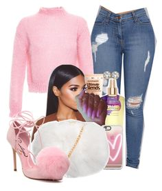 """Untitled #1578"" by melaninprincess-16 ❤ liked on Polyvore featuring Filles à papa, Garnier, Casetify, Privileged and Palm Beach Jewelry"