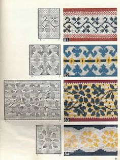 Learn how to knit patterns like this (granted, I'll have to learn basic knitting first!). fair isle / jacquard knitting