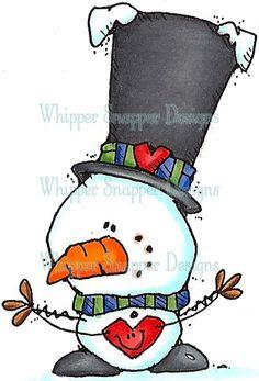 Mini-Me Love - Snowmen Images - Snowmen - Rubber Stamps - Shop