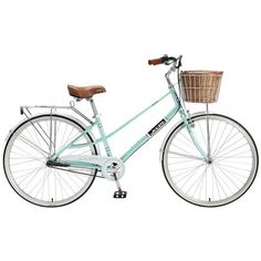 Retro Bicycle 700c (15 Frame) Aqua Alloy Frame 3 Speed Ladies By XDS ❤ liked on Polyvore featuring fillers, bicycles, accessories, backgrounds and bikes