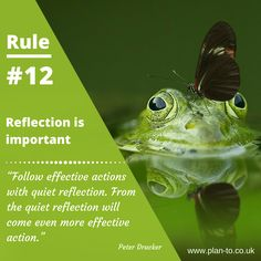 Planning tips - the importance of reflection