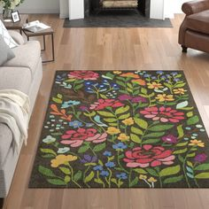Cozy styling mixed with the timeless patterns creates the Anaya Looped/Hooked Wool Brown Area Rug. It is a value priced, high styled rug. Teal Living Rooms, Rugs In Living Room, Spanish Style Homes, Brown Rug, Indoor Outdoor Area Rugs, Rug Size, Wool Rug, Kids Rugs, Rose
