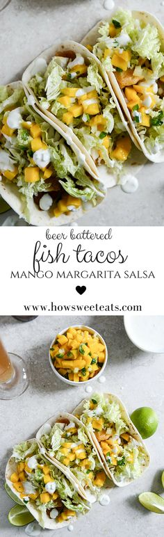 Beer Battered Fish Tacos by @howsweeteats I howsweeteats.com