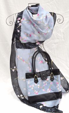 Matching set - Cherry Blossom (silver and black), £60.00