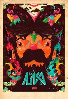 Alien movie poster by Gustavo Brigante, via Behance