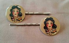 Sailor Tattoo pin up hair clips by thekitschycupcake on Etsy https://www.etsy.com/listing/213303713/sailor-tattoo-pin-up-hair-clips