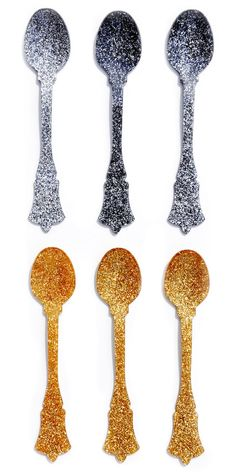 Glitter Teaspoon Set by LEIF