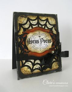 Halloween card - Xyron and Core'dinations cardstock