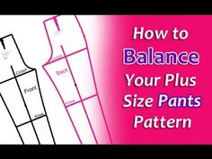 Video tutorial on how to match the curve of inseam and side seams of plus size pants pattern so pattern is balanced.
