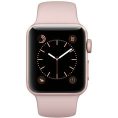 Apple Watch Series 2 38mm Rose Gold-Tone Aluminum Case with Pink Sand... (€335) ❤ liked on Polyvore featuring jewelry, watches, sports wrist watch, sports jewelry, sport wrist watch, sports watches and sand jewelry