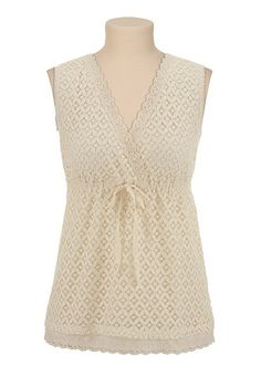 V-Neck Sleeveless Lace Top available at #Maurices $26.00