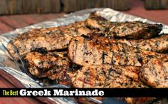 You won't believe the secret to The BEST Greek marinade for chicken, steak and pork. The most juicy chicken ever! No more dry chicken breast! Asian Marinade For Chicken, Chicken Steak, Chicken Marinades, Chicken Fajitas, Grilled Chicken, Meat Marinade, Souvlaki Marinade, Steak Marinades, Baked Chicken