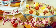 Falscher Kartoffelsalat Low-Carb mit Ei & Tomaten - die ideale Alternative zum klassischen Kartoffelsalat. Fix zubereitet und passend zu jedem sommerlichen Grillabend.