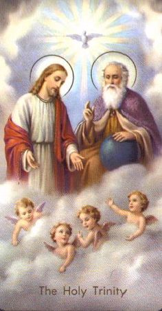 Holy card of the Holy Trinity