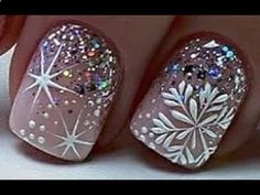 Top 10 New Year Nail Art Designs The Best Christmas Nail Art Tutorials # 75 . - Top 10 New Year Nail Art Designs The Best Christmas Nail Art Tutorials # 75 – Sharp claws – - Cute Christmas Nails, Christmas Nail Art Designs, Xmas Nails, New Year's Nails, Holiday Nails, Fun Nails, Hair And Nails, Christmas Manicure, Christmas Christmas
