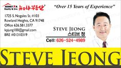 Steve Jeong Business Card Sticker