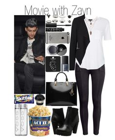 """""""Movie with Zayn"""" by fashion-onedirection ❤ liked on Polyvore featuring moda, House of Sillage, H&M, Topshop, Vero Moda, Steve Madden, Karl Lagerfeld, NARS Cosmetics, Chanel y River Island"""