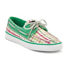womens boat shoes white-green