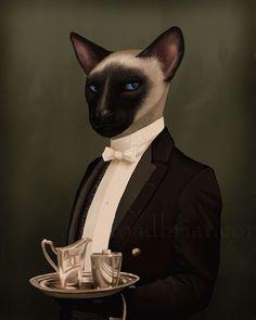 Thomas Siamese Cat Portrait - Downton Abbey