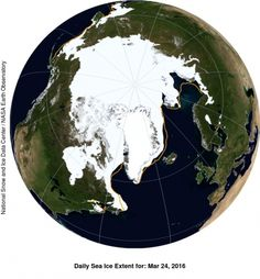 Arctic Sea Ice Hits Record Low Peak, Again »