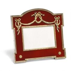 Hjalmar Armfeldt, Fabergé: A Russian Fabergé silver-gilt and red translucent enamel frame. Antique Frames, Antique Items, Fun Art, Cool Art, Faberge Eggs, Laurel Wreath, Royal Jewelry, Russian Art, Rosettes