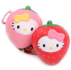 Strawberry Hello Kitty squishy charm by Sanrio