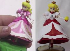 Turn your Princess Peach Amiibo into a Fire Flower Princess Peach Amiibo! Click the link for the tutorial #princesspeach #ideas #tutorial #diy #crafts #project #design #supermariobros #mario #gaming #gamers #videogame #geeky
