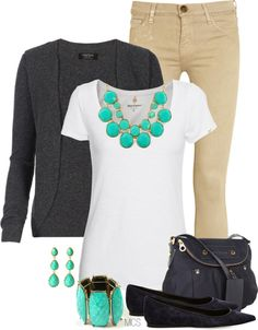 """Turquoise and Grey"" by mclaires on Polyvore"