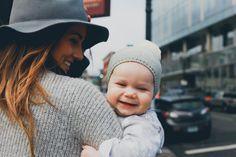 joyful baby smiles