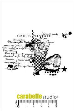 Acheter tampon SCRAP - tampon carte postale - CARABELLE
