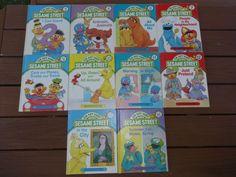 Vintage 1989 On My Way With Sesame Street 10 Volumes 2,4,5,7,9,10,11,12,13,15