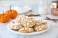 Rychlé a křehoučké taštičky – Snadné Recepty Crinkle Cookies, Pumpkin Pie Spice, Pumpkin Puree, A Food, Food And Drink, Fall Cookies, Cookies Ingredients, Snacks, Cookie Desserts