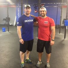 With Rich Froning after class.