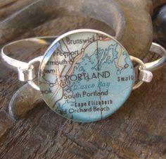 Having a ring made out of my town, and the surrounding coastal towns, its a bright blue map, and its huge, watch out Portland theres a new trend in town~