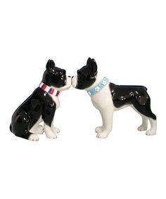 Another great find on #zulily! Boston Terrier Salt & Pepper Shakers #zulilyfinds