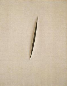 Lucio Fontana, Spatial Concept 'Waiting' / Concetto spaziale 'Attesa' (1960) #spatialism