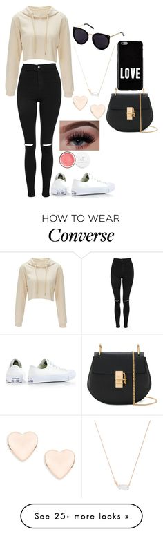 """""""lazy day wear"""" by chapbl on Polyvore featuring Topshop, Converse, Ted Baker, Kendra Scott, Givenchy and Chloé"""