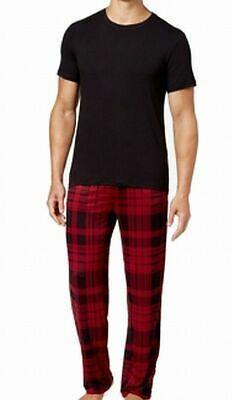 ALEXANDER DEL ROSSA Men/'s NWT Red Flannel Tartan Plaid 2 Pc Pajama Set Sz Lg