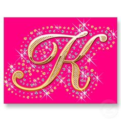 Pink Postcard with Initial K
